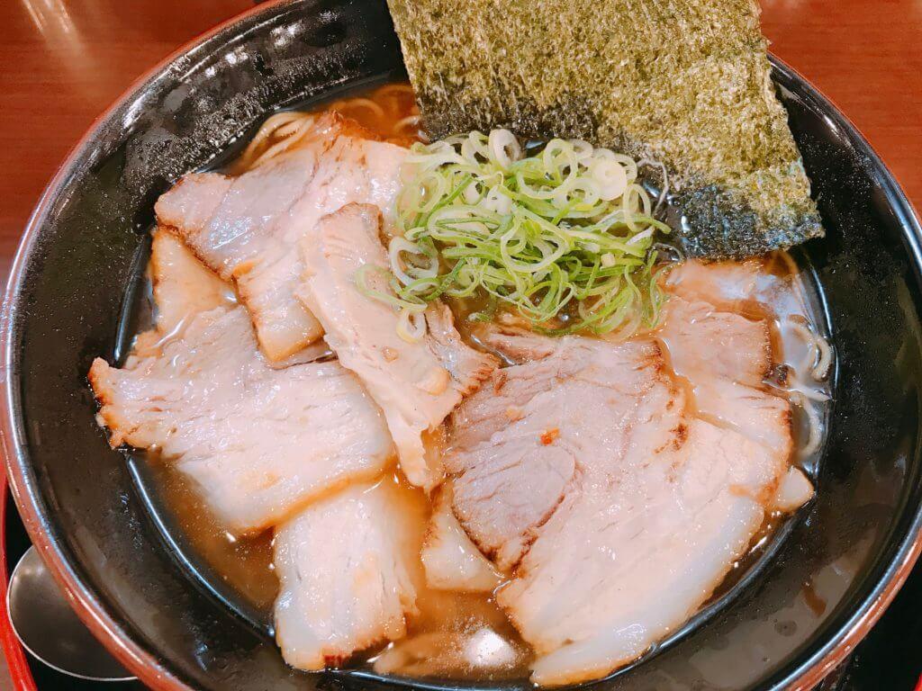 魚介肉醤油ラーメンのアップ