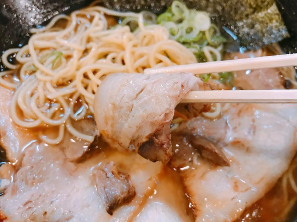 魚介肉醤油ラーメンのチャーシュー