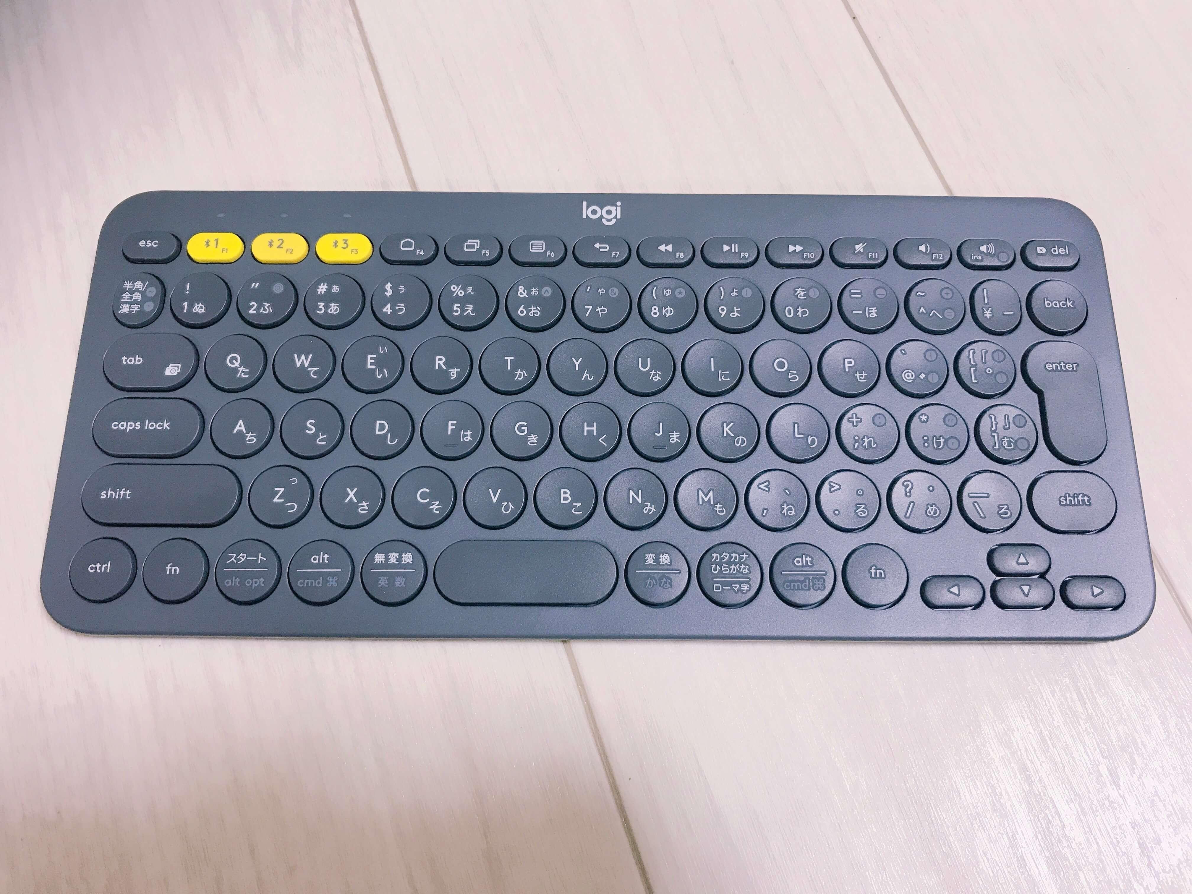 ロジクールK380のキーボードの写真