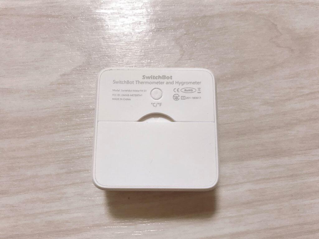 SwitchBot温湿度計の裏側の写真
